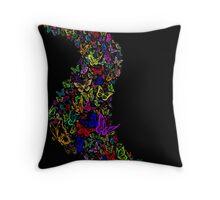 Butterfly spill Throw Pillow