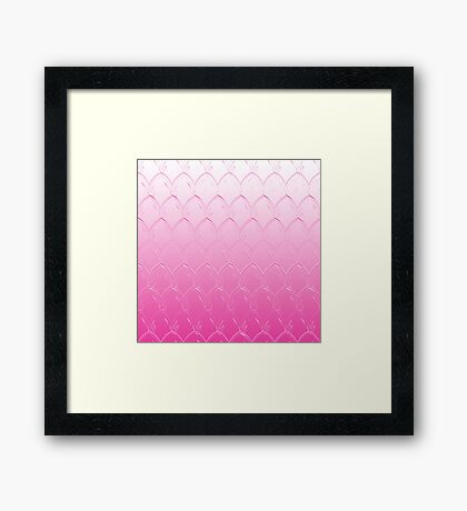 Pink Dragon Scales Framed Print