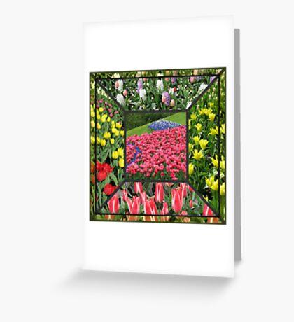 Bold and Beautiful - Keukenhof Tulips Collage Greeting Card