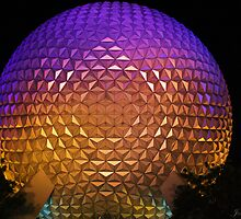 Epcot at night by Joe Diebold