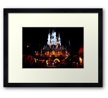 Nighttime at the Castle Framed Print