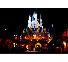 Nighttime at the Castle Photographic Print
