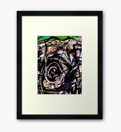 into an eye... Framed Print