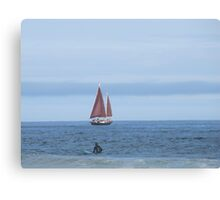 Watching the Pineapple Ketch  Canvas Print