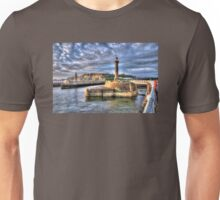 Whitby Harbour on the North Yorkshire Coast Unisex T-Shirt