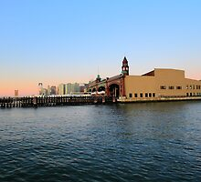 Erie Lackawanna Railroad ferry terminal now NY Waterway by pmarella