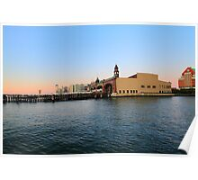 Erie Lackawanna Railroad ferry terminal now NY Waterway Poster