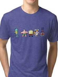 Spongebob - Minimal - Digital Repaint Tri-blend T-Shirt