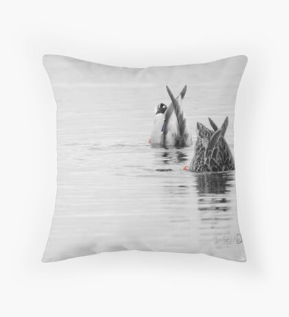 Bobbers Throw Pillow