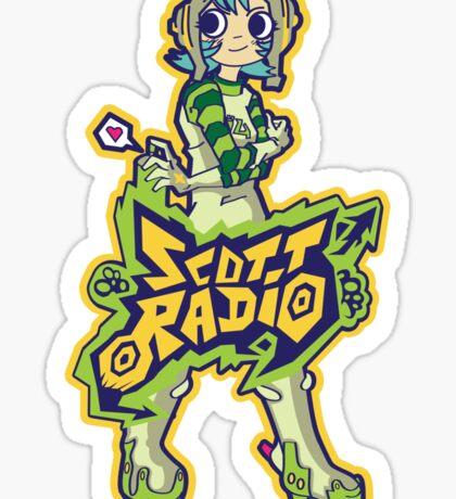 Scott Radio!! - Ramona Aqua Sticker