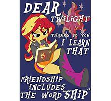 "Friend ""ship"" is magic! Photographic Print"