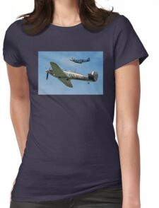 Hawker Hurricane and Supermarine Spitfire Womens Fitted T-Shirt