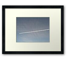Afternoon Contrail Framed Print