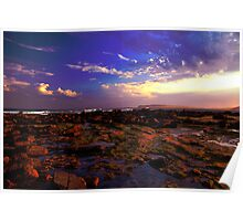 Sunset over Long Reef Sydney NSW Poster