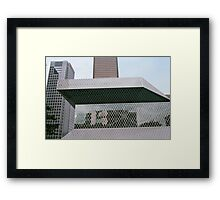 Seattle Public Library detail Framed Print