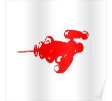 Alien Ray Gun - Red Poster