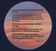 Genesis 1 1-5 In the Beginning Kids Tee