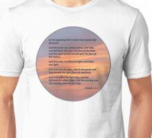 Genesis 1 1-5 In the Beginning Unisex T-Shirt