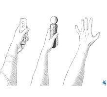 Hand Waving Photographic Print
