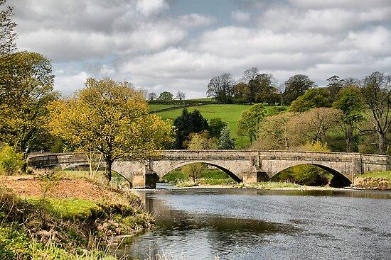 The Bridge at Sawley . by Irene  Burdell