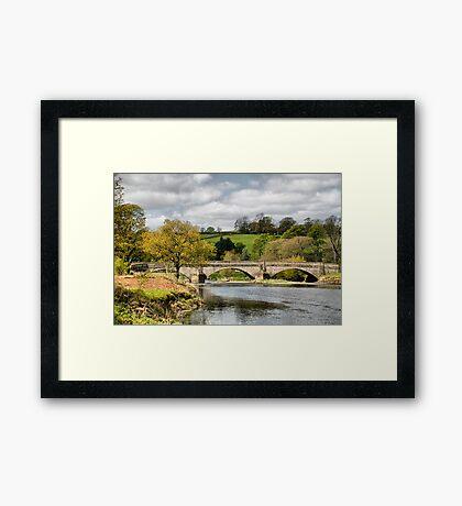 The Bridge at Sawley . Framed Print