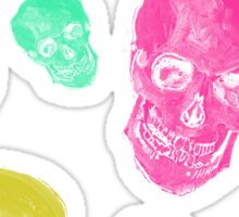 Van Gogh Skull remixed Sticker