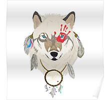 Spirited Wolf Poster
