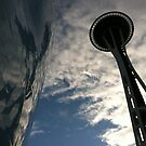 The Space Needle and EMP  by Julie Van Tosh Photography