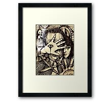 Playing With Scissors  Framed Print