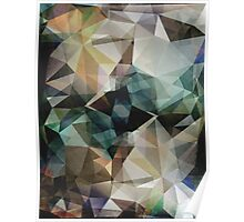 Abstract Grunge Triangles Poster