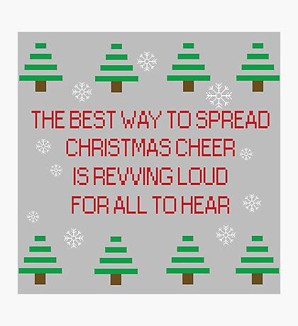 Spreading Xmas cheer Photographic Print
