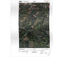 USGS Topo Map Washington State WA Adams Mountain 20110413 TM Poster