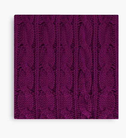 Magenta Knit Canvas Print
