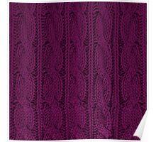 Magenta Knit Poster