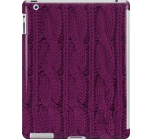 Magenta Knit iPad Case/Skin