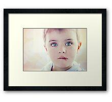 Little Boy's Big Dreams Framed Print