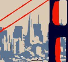Golden Gate Bridge and skyline  Sticker
