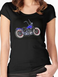 Bobber on Black Women's Fitted Scoop T-Shirt