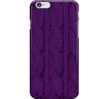 Knit Purple iPhone Case/Skin
