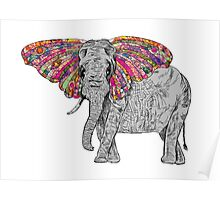 Bella The Happy Butterphant Poster