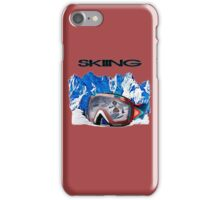 Vintage Snow Skiing gifts iPhone Case/Skin