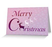 Merry Christmas deer Greeting Card