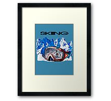 Vintage Snow Skiing gifts Framed Print