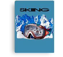 Vintage Snow Skiing gifts Canvas Print