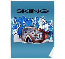 Vintage Snow Skiing gifts Poster
