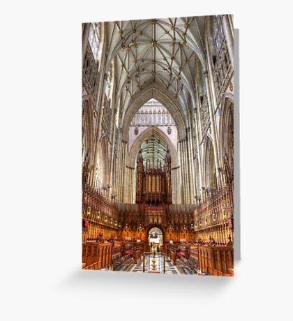 York Minster Quire Greeting Card