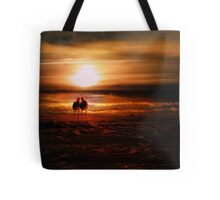 Seagulls - Lovebirds at Sunset  Tote Bag