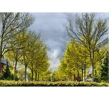 A rainy day in Belgium Photographic Print