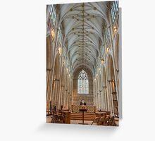 York Minster Nave Greeting Card