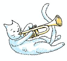 Trumpeting Kitty by Moststrange